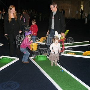9 Hole Crazy Golf Hire for Events and Paties