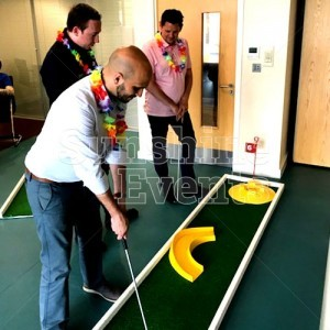 Deluxe 9 hole Crazy Golf Hire