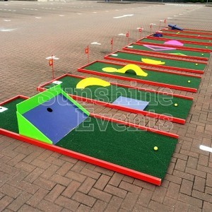 Crazy Golf 9 Hole Hire on Hard Standing