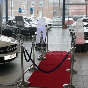 Red Carpet Walkway with Stanchions