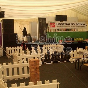 Giant Games Hire Inside Marquees