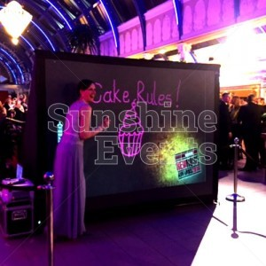 Evening Functions and Events Digital Graffiti Wall