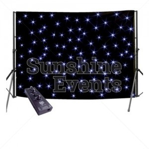 Star cloth backdrop for events and parties