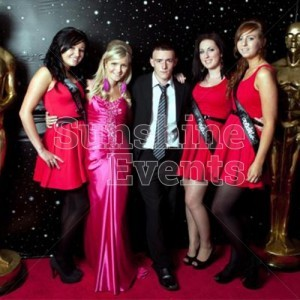 Hollywood Theme Red Carpet and Starcloth