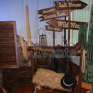 Wild Western Theme and Props to Hire for Events