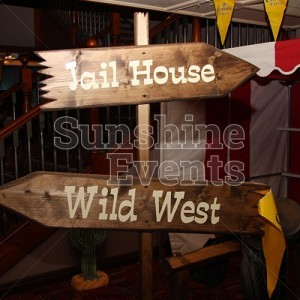 Wild West Theme Events Wooden Props
