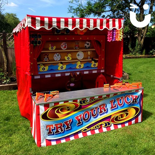 Our Target Stall Hire set up outside in the sun