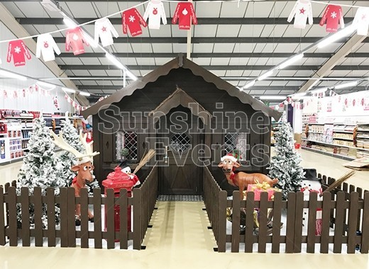 A MAGICAL WOODEN GROTTO FOR MIDCOUNTIES COOP STORE