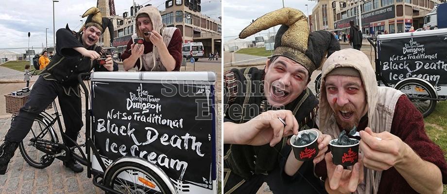 Sunshine's Spooky Ice Cream bike is a big hit in Blackpool!