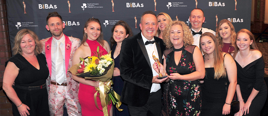 Service Business of the Year at the Bibas 2019 (for the second year running!)